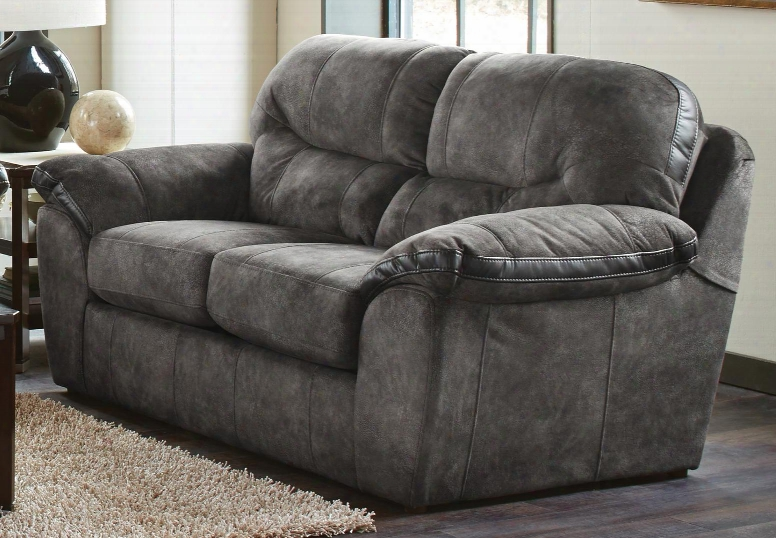 "Atlee Collection 4431-02 1254-38/1252-78 75"" Loveseat With Split Back Decorative Contrast Bands And Pillow Top Arms In"