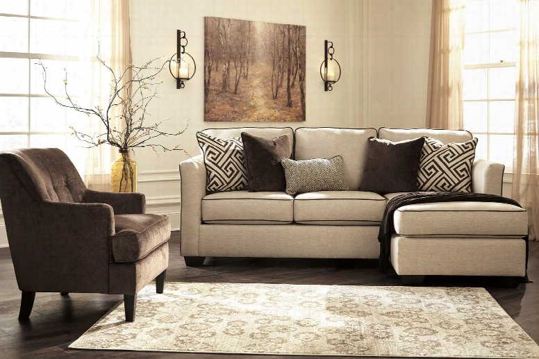 Carlinworth Collection 84401scac2 2-piece Living Room Set With Sofa Chaise And Accent Chair With Solid