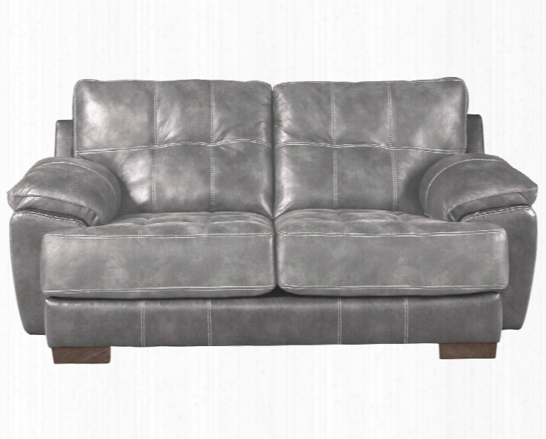 "Drummond Collection 4296-02 1152-18/1300-28 79"" Loveseat With Block Feet Tufted Cushions And Padded Polyester Fabric In"