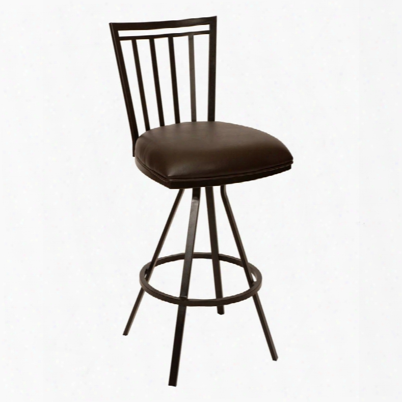 "Lcai30babr Aidan 30"" Transitional Brstool In Coffee And Auburn Bay"