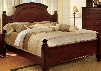 Gabrielle II Collection CM7083Q-BED Queen Size Poster Bed with European Style Solid Wood and Wood Veneers Construction in Cherry