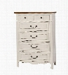 "Galesburg Collection CM7040C 38"" Chest with 6 Drawers Antique Metal Hardware Cottage-Inspired Design Solid Wood and Wood Veneers Construction in White and"