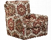 """Westchester Collection 724-21 2859-94 35"""" Accent Swivel Chair with Track Arms Linen Like Fabric and Feather-Blend Seating in"""