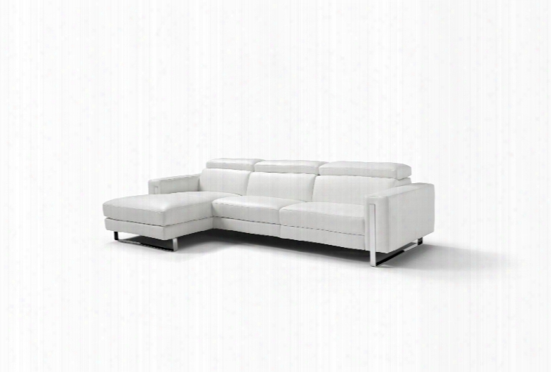 Sl1423lswht Adriano Sectional 100% Made In Italy Chaise On Left When Facing White Top Grain Leather 1066 L09s 1 Electric Recliner In The 2 Seater