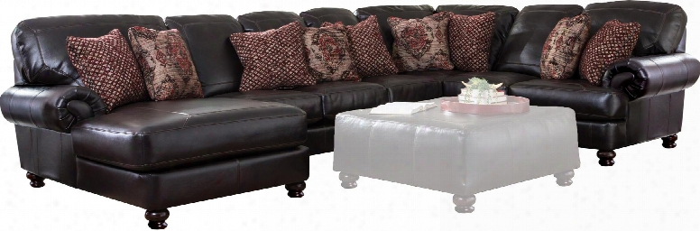 """Southport Collection 4467-75-30-59-42-1166-19/1266-19 155"""" 4-piece Sectional With Left Arm Facing Chaise Armless Sofa Corner And Right Arm Facing Loveseat In"""
