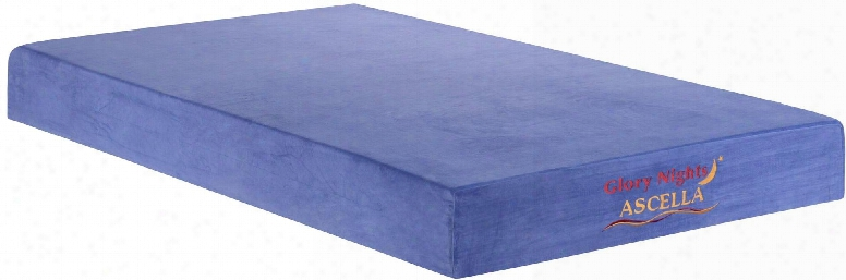 "Ascella Blue Collection Gn2230-t 8"" Memory Foam Mattress With Visco Memory Foam Removable And Washable Cover In Blue"