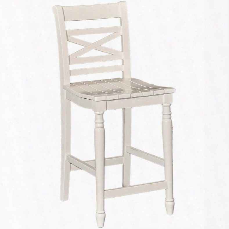 """Asher Collection D1023b16cs 39"""" Counter Stool With Planked Seat Stretchers And Turned Legs In"""
