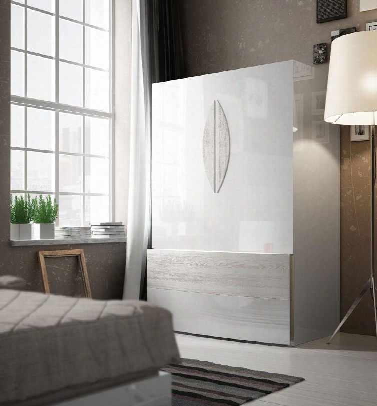 """Cordoba Collection I17808 48"""" Wardrobe With 2 Drawers And 2"""