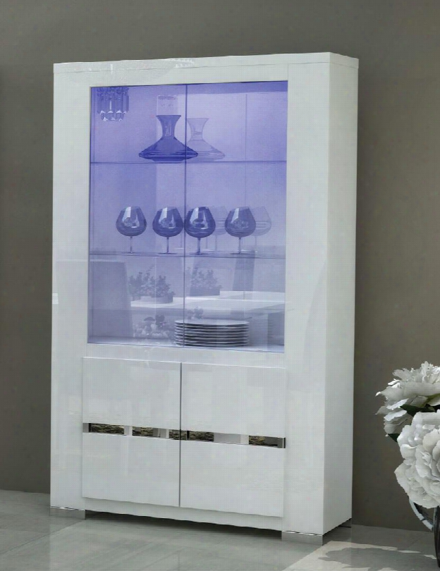 """Elegance Collection I2048 42"""" 2-door China With Light In"""