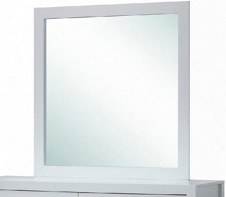 """G2490-m 41"""" X 41"""" Mirror With Square Shape And Wood Construction In White"""