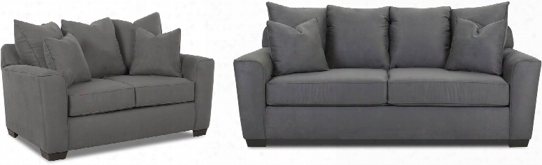 Heather Collectoin E56044kl2pcstlkit1 2-piece Living Room Sets With Stationary Sofa And Loveseat In Microsuede
