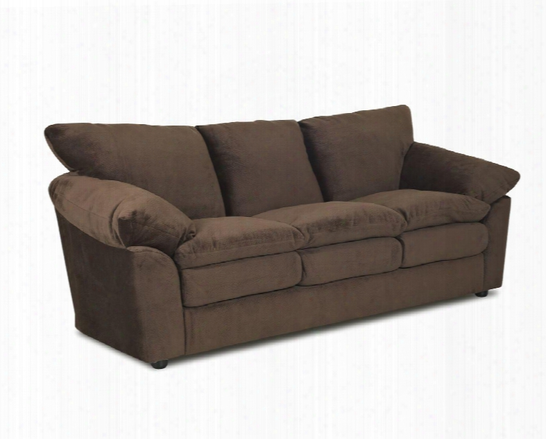 "Heights Collection Oe13-s-cc 92"" Sofa With Pillow Arms Pillow Back And Stitched Detailing In Challenger"