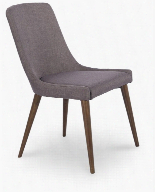 "I17273 34"" Side Chairs With Tapered Wood Legs And Fabric"