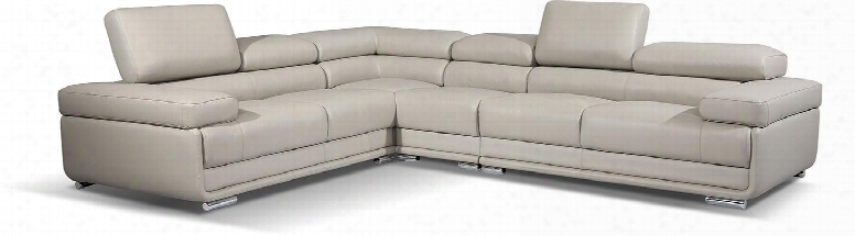 """I17280 102-125.5"""" 2119 Sectional With Leather Left Arm Facing Loveseat Corner Chair And Armless Chair Right Arm Facing"""