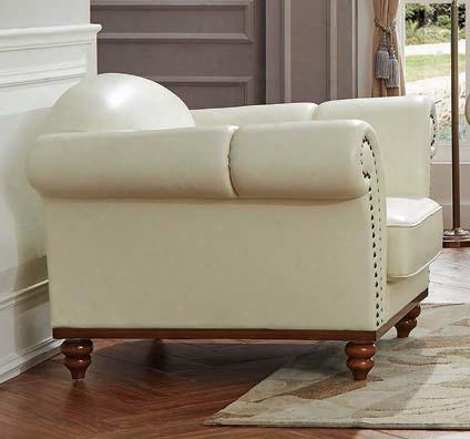 """I17686 49"""" 2601 Armchair With Leather In"""