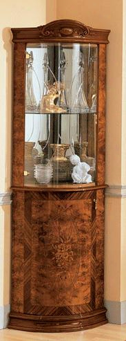 """Milady Cllection I729 27"""" Corner Curio Cabinet In"""