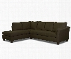 """Drew Collection E16-SECT-RS-MTHYM 118"""" Sectional with Right Arm Sofa and Left Arm Chaise in Microsuede"""
