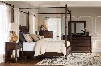 Passages Collection 14BO7024PW6PCKCNMDDLM21DN6DCKIT1 6-Piece Bedroom Sets with King Canopy Bed Dresser Mirror 2x Nightstand and Chest in Akzo