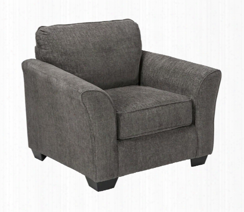 "Brise Collection 8410220 43"" Chair With Chenille Upholstery Tapered Block Feet And Flared Arms In"