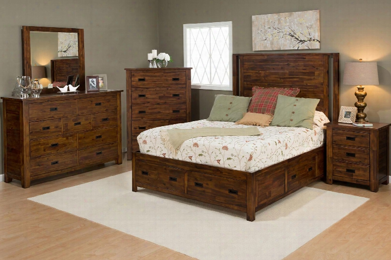 Coolidge Corner Collection 1503kpbdmnc 5-piece Bedroom Set With King Bed Dresser Mirror Nightstad And Hest In