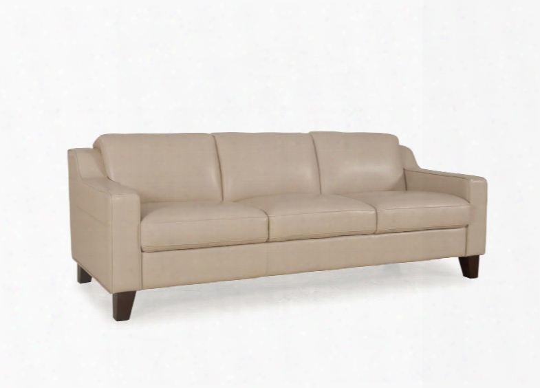 """Cora Collection 34903m/s1294 81"""" Sofa With Top Grain Leather Upholste Ry Follow  Arms And Tapered Legs In"""