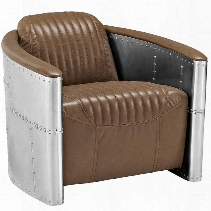 Eei-2071-brn Visibility Lounge Chair In