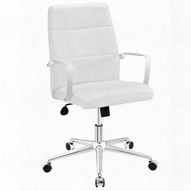 Eei-2121-whi Stride Mid Back Office Chair In