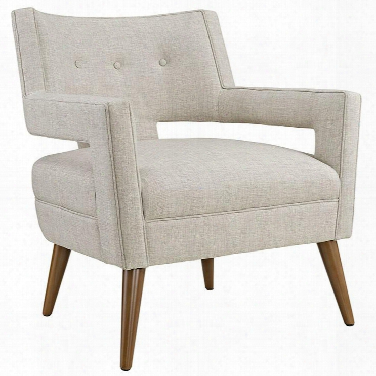 Eei-2142-san Sheer Fabric Armchair In