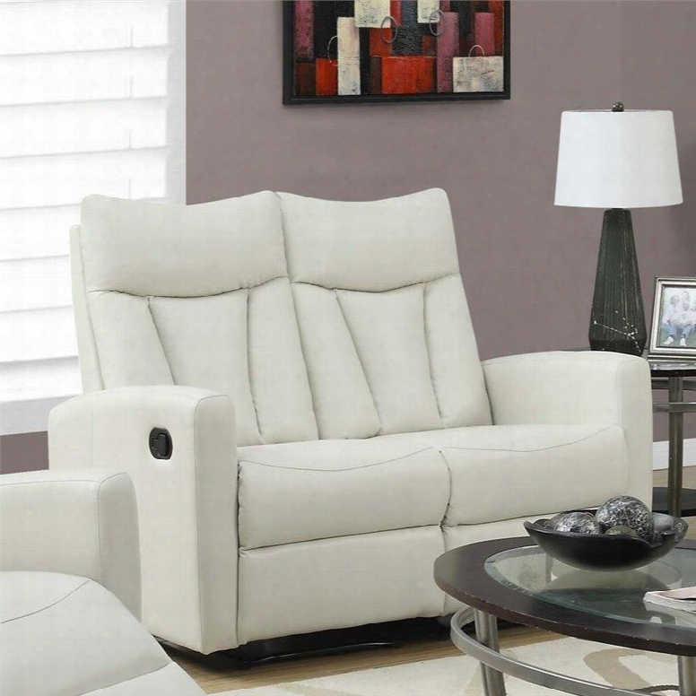 """I 87iv-2 50"""" Reclining Love Seat With Lumbar Support Comfortably Padded And Bonded Leather In"""