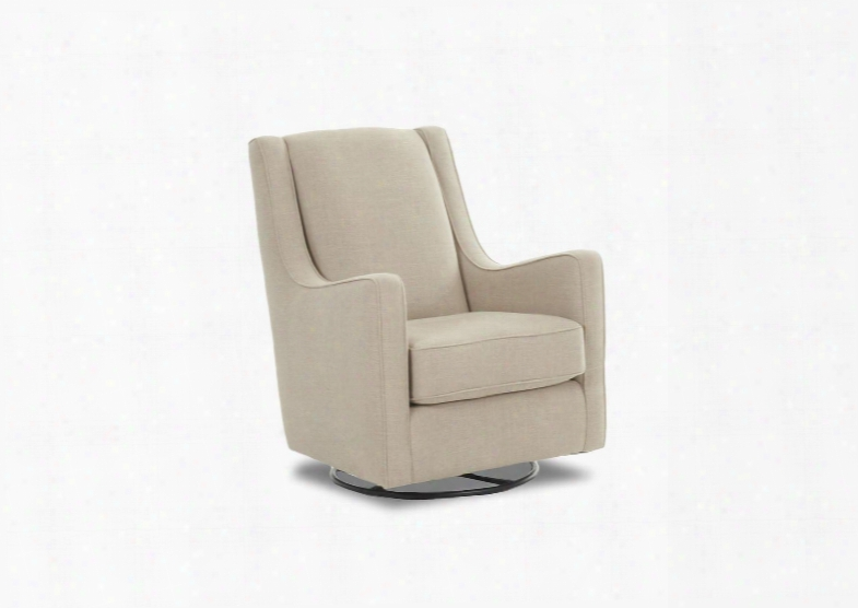 "Lacey Collection K31390-swgl-sn 31"" Swivel Gliderwith Accent Pillow Rockin And Track Arms In Studio"