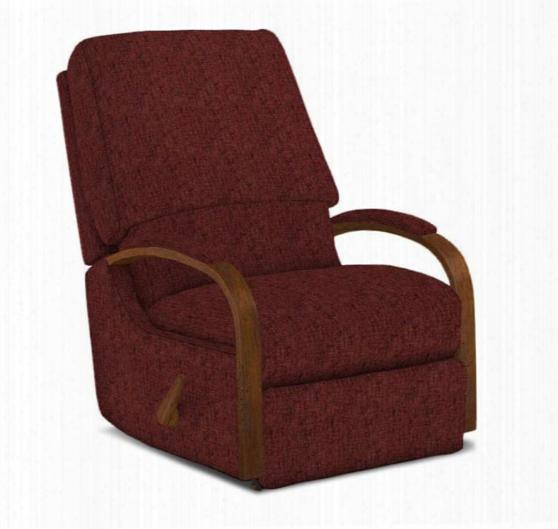 Pike Collection 7nw04dp-21678 Space Saver Recliner With Wooden Arched Arms Lumbar Support And Extra Tall
