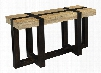 """75314 54"""" Console Table with Tahoe Natural Mango Top Dark Mango Base and"""