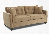 "Brower Collection E94300-SC-NCO 76"" Sofa with Track Arms Tapered Block Feet Button Tufted Back and Polyester Fabric Upholstery in Nina"