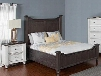 Carriage House Collection 2308ECKBBEDROOMSET 2-Piece Bedroom Set with King Bed and Nightstand in European Cottage
