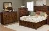 Coolidge Corner Collection 1503KPBDM 3-Piece Bedroom Set with King Bed Dresser and Mirror in