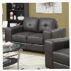 "I 8222BR 61"" Loveseat with Removable Cushion Oversized Arms and Tufted"
