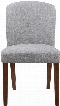"""Louise Collection 150393 34"""" Parson Dining Chair with Tapered Legs Walnut Wood Construction and Fabric Upholstery in Grey"""