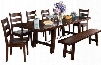 Vineyard Collection 1380RMDT6C 7-Piece Dining Room Set with Extension Dining Table and 6 Chairs in Rustic Mahogany