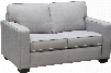 """Watson Collection WATSONLOLG 56"""" Loveseat with Track Arms Hardwood Frame Piped Stitching and Fabric Upholstery in Light Grey"""