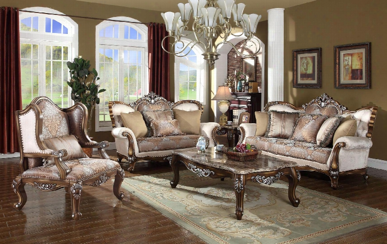 Sandro Collection 6033pcstlarmkit1 3-piece Living Room Sets Wiht Stationary Sofa Loveseat And Living Room Chair In Light