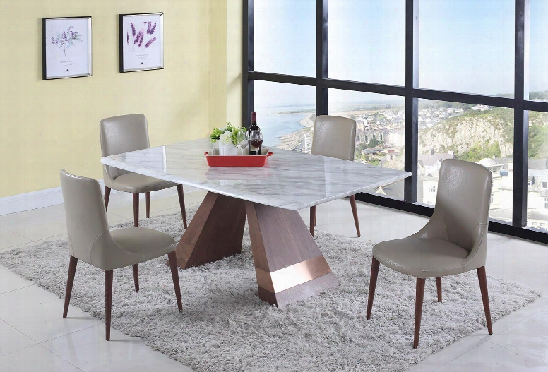 Scarllett Collection Scarlett-5pc 5-piece Dining Room Sets With Rectangular Dining Table And 4x Beige Dining Chairs In Jazz