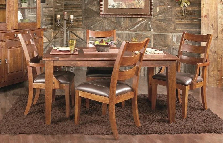 Urban Craftsmen Collection 340-5pcdining-br-0542901-2906 5-piece Dining Room Set With Dining Table 2 Side Chairs And 2 Atmchairs In