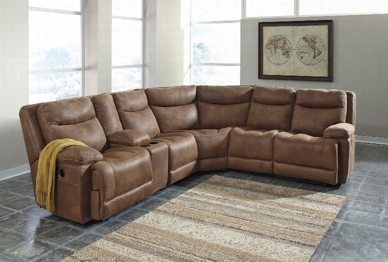 Valto Collection 79400-40-57-19-77-46-57-41 Sectional Sofa With Left Arm Facing Recliner 2x Storage Consoles Armless Recliner Wedge Armless Chair And Right