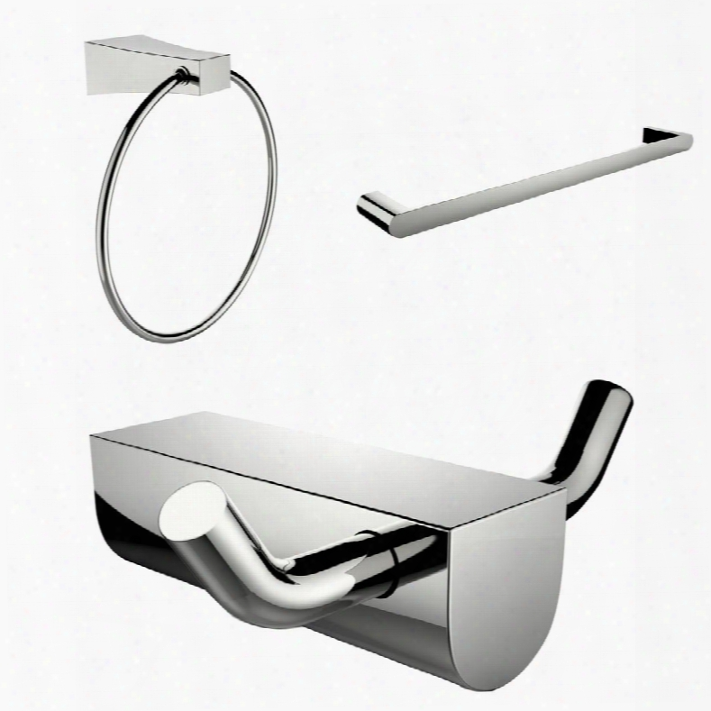 Ai-13678 Modern Towel Ring With Single Rod Towel Rack And Robe Hook Accessory