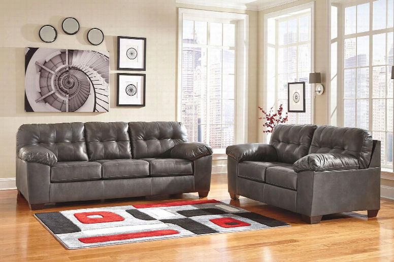 Alliston Collection 20102sl 2-piece Living Room Set With Sofa And Loveseat In