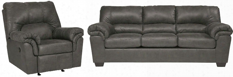 Bladen Collection 12001sr 2-piece Living Room Set With Sofa Ad Recliner In