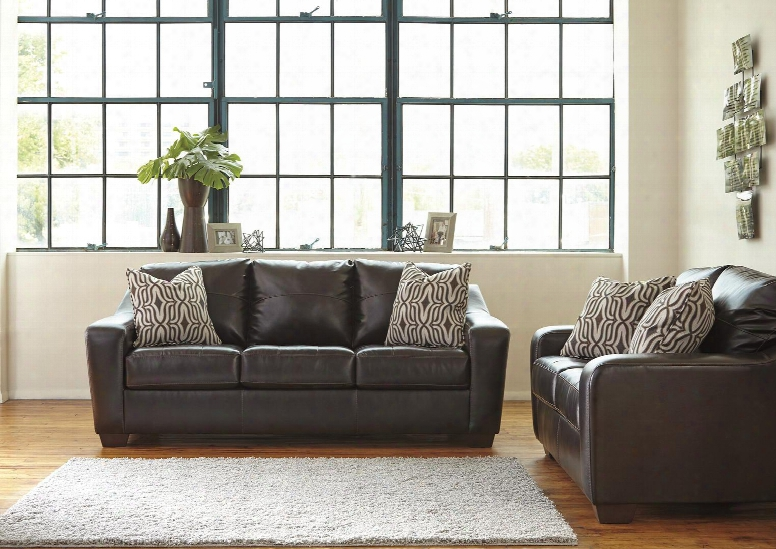 Coppell Durablend Collection 59001sl 2-piece Living Room Set With Sofa And Loveseat In