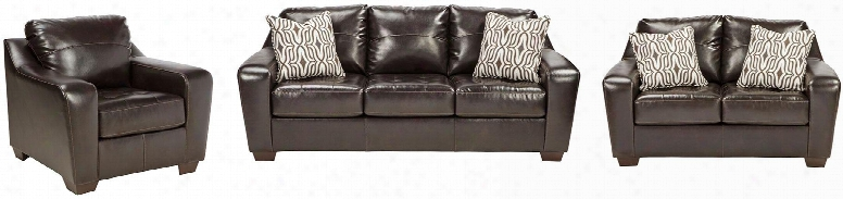 Coppell Durablend Collection 59001slc 3-piece Living Room Set With Sofa Loveseat And Living Room Chair In