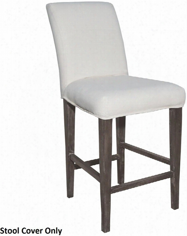 """Couture Covers Collection 7011-119-e 25"""" Parsons Batstool Cover With Rectangular Shape And Fabric Material In Pure White"""