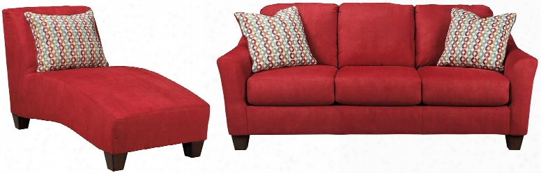 Hannin Collection 95801scl2-piece Living Room Set With Sofa And Chaise Lounge In